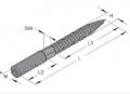 Tőcsavar (ászokcsavar) fa és metrikus menettel M 08 x 60 mm