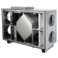 HRS H 1200 E EKO hővisszanyerő légkezelő, oldalsó csonkozással, 1200 m3/h légszáll.