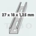 C-sín (szerelősín) MFO 27 / 18 x 1,25 mm 2 m/szál