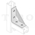 Csomóponti elem (erősített szerelőszeglet) 40 / 5  4-lyukú 90° INV