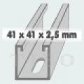 C-sín (szerelősín) MFO 41 /  41 x 2,5 mm  6 m/szál