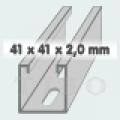 C-sín (szerelősín) MFO 41 /  41 x 2,0 mm  3 m/szál