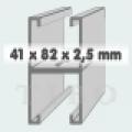 C-sín (szerelősín) MFO 41 /  82 x 2,5 mm dupla 6 m/szál