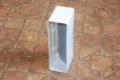 Műanyag lapos légcsatorna csőtoldó visszacsapó szeleppel 60 x 120 mm-es légcsatornákhoz