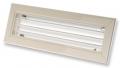 AH-W egysoros fehér színű alumínium fali rács, mozgatható lamellás -   300 x 200 mm