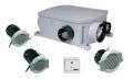 Aldes Compact központi elszívó ventilátor mennyiség szabályzott csonkokkal, fordulatszám szabályozóval