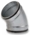 Könyökidom 45°  BDG45 NA   80 mm préselt, gumitömítéssel