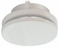 Acél elszívó/befúvó légszelep sík előlappal, szerelőhüvellyel SVA NA 080 mm (fehér - RAL 9016)