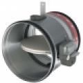 CR 120 + MFUS kézi, kör keresztmetszetű tűzcsappantyú 120 perces tűzállósággal NA 125 mm