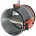 CR 60 + BFLT 230V motoros, kör keresztmetszetű tűzcsappantyú 90 perc tűzállósággal NA 125 mm