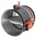 CR 60 + BFLT 24V motoros, kör keresztmetszetű tűzcsappantyú 90 perc tűzállósággal NA 250 mm
