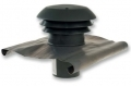 CTA tetősapka PVC-ből NA 125 mm BLACK
