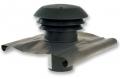 CTA tetősapka PVC-ből NA 150 mm BLACK
