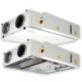 HRS CW  400 EKO hővisszanyerő légkezelő, vízszintes csonkozású,  400 m3/h kapacitással