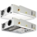HRS CW  700 EKO hővisszanyerő légkezelő, vízszintes csonkozású,  700 m3/h kapacitással