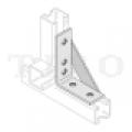 Csomóponti elem (erősített szerelőszeglet) 40 / 5  5-lyukú 90° INV