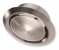 Rozsdamentes acél elszívó/befúvó légszelep szerelőhüvellyel DVI NA 150 mm