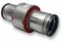 MG2+R tűzvédelmi gallér légcsatorna csatlakozással 120 perc tűzállósággal NA 125 mm