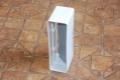 Műanyag lapos légcsatorna csőtoldó visszacsapó szeleppel 55 x 110 mm-es légcsatornákhoz