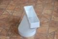 Műanyag lapos légcsatorna egyenes átalakító 55 x 110 mm / NA 100 mm kör keresztmetszetre (excentrikus)