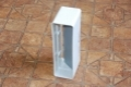 Műanyag lapos légcsatorna csőtoldó visszacsapó szeleppel 60 x 204 mm-es légcsatornákhoz
