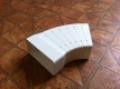 Műanyag lapos légcsatorna szeletes ív 45°-os (vízszintes) 55 x 110 mm-es légcsatornákhoz