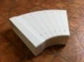 Műanyag lapos légcsatorna szeletes ív 45°-os (vízszintes) 60 x 204 mm-es légcsatornákhoz