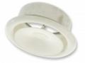Acél befúvó légszelep szerelőhüvellyel P-DVS Na 125 (fehér - RAL 9016)