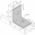 Sarokelem (szerelőkeret, szerelőszeglet) 35  -38  2-lyukú 90° INV