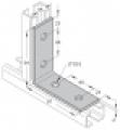 Sarokelem (szerelőkeret, szerelőszeglet) 35 - 38  4-lyukú  90° INV