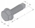 Önmetsző (önfúró) lemezcsavar hatlapfejű 4,2 x 13 mm