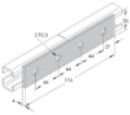 Összekötő lemez (egyenes összekötő) 4-lyukú 35/21-es és 38/40-es szerelősínekhez INV