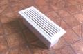 Műanyag lapos légcsatorna szellőzőrácsos végzáró elem (fix)  60 x 204 mm-es légcsatornákhoz