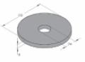 Fakötésű alátét (erősített alátét)  8,4 x 25 x 2,0 mm