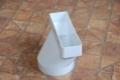 Műanyag lapos légcsatorna egyenes átalakító 60 x 120 mm / NA 100 kör keresztmetszetre (excentrikus)