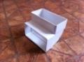 Műanyag lapos légcsatorna 90°-os függőleges könyök 60 x 120 mm-es légcsatornákhoz