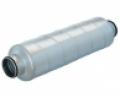 Horganyzott acél burkolatú hangcsillapító  SARG jelű NA 160 mm •  L = 1200 mm