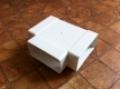 Műanyag lapos légcsatorna T-idom 90° vízszintes 60 x 120 mm-es légcsatornákhoz