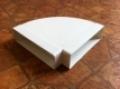 Műanyag lapos légcsatorna 90°-os vízszintes könyök 60 x 204 mm-es légcsatornákhoz
