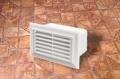 Műanyag lapos légcsatorna szellőzőrácsos végzáró elem (fix)  55 x 110 mm-es légcsatornákhoz