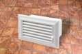 Műanyag lapos légcsatorna szellőzőrácsos végzáró elem (mozgatható)  60 x 120 mm-es légcsatornákhoz